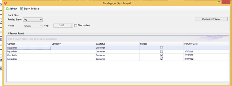Mortgage Dashboard