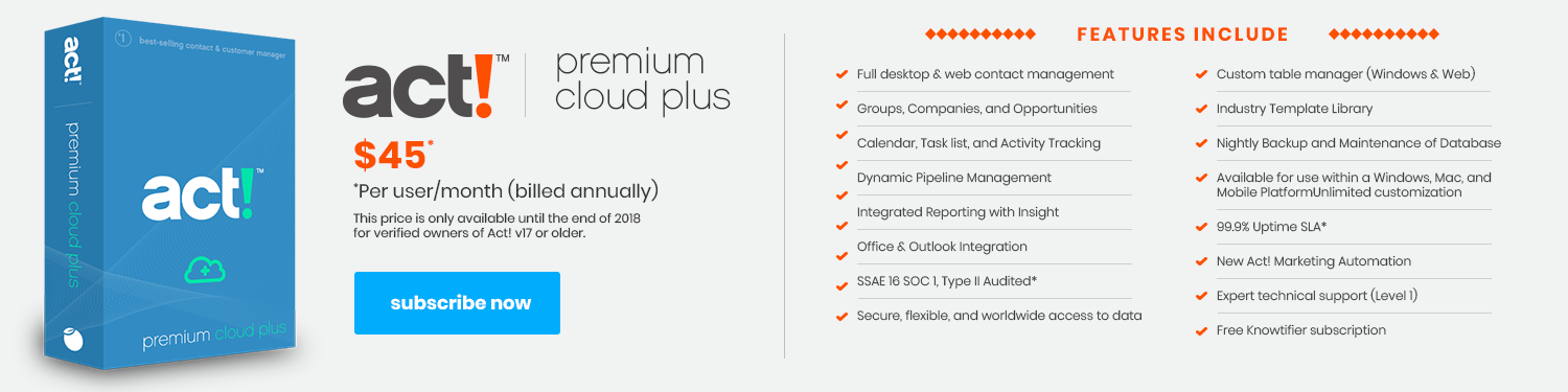 Act! Premium Cloud Plus